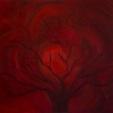 """Lua vermelha"" (Luna roja), óleo sobre lienzo, 80x65cm"