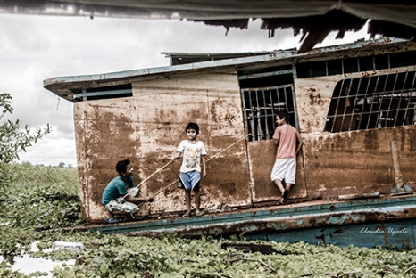 Tres mosqueteros a la pesca | © Claudia Ugarte | 40 x 27cm